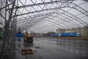 Production (polyester foam) storage hall 23x84x4.5m, Lithuania, Kaunas